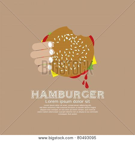 Hamburger In Hand.