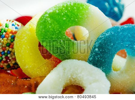 jelly ring candies in bowl.