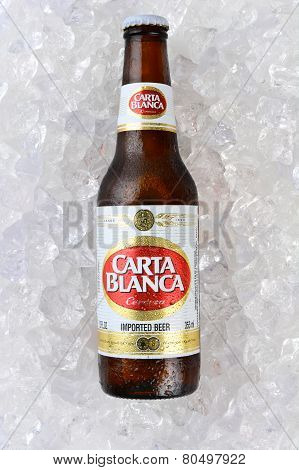 Carta Blanca Beer On Ice Vertical