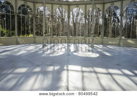 Famous Crystal Palace in the Retiro park Madrid, Spain