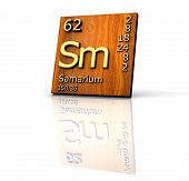 Samarium Form Periodic Table Of Elements - Wood Board poster