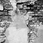 stock photo of  photo  - Gray background image for the photo album photo book with grunge brick old wall and plaster - JPG