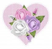image of rose bud  - 3 pastel pink - JPG