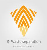 stock photo of waste management  - Waste separation business icon for creative design - JPG
