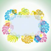 picture of tropical island  - This graphic is abstract tropical frame - JPG