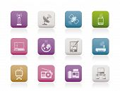 stock photo of televisor  - communication and technology icons  - JPG