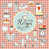 stock photo of recipe card  - Recipes concept card - JPG