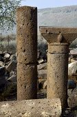 picture of golan-heights  - Antique columns in Mother of the Arches synagogue in Golan Heights Israel - JPG