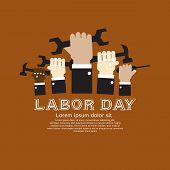 image of strongman  - Labor Day Simply And Clean Illustration Conceptual Vector - JPG