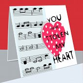 foto of heart sounds  - an illustration of a greeting card with  - JPG