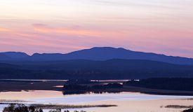 foto of nightfall  - Nightfall up North over lakes - JPG