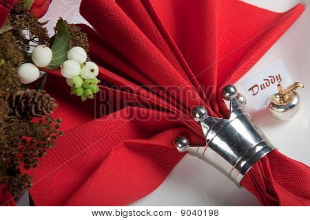 Festive Table In Red And White