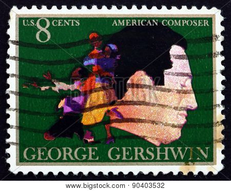 Postage Stamp Usa 1973 George Gershwin, Composer And Pianist