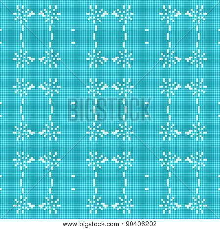 Filet Crochet Lace Design. Seamless Background