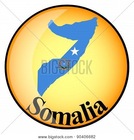 Orange Button With The Image Maps Of Somalia