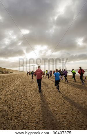 Running a beach marathon