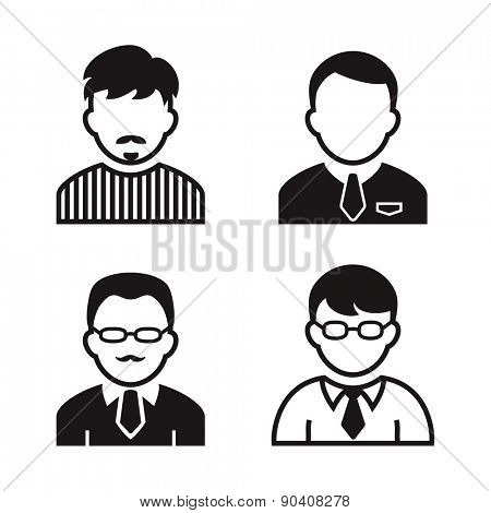 People avatar and user icons. Occupation and people icons. Vector illustration