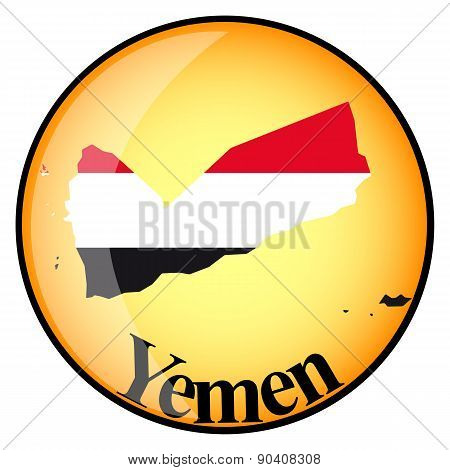 Orange Button With The Image Maps Of Yemen