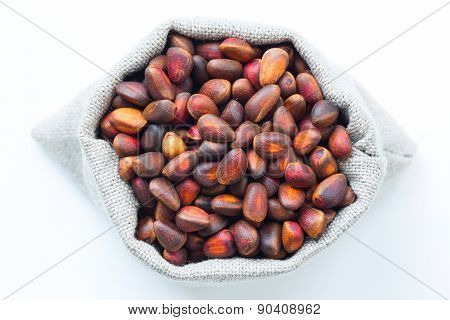 Isolated pine (cedar) nuts