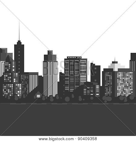 Vector Seamless modern city.