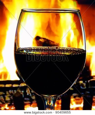 Wine and Firelight