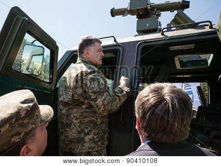 President Of Ukraine Petro Poroshenko At The Training Center Of The Land Forces