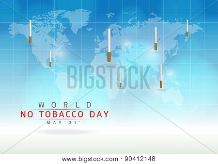 Create A Cigarettes Image On A Blue Background.