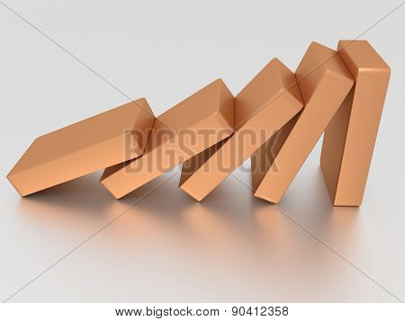 Conceptual Illustration Of Falling Bricks