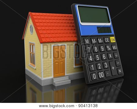 House and Calculator (clipping path included)