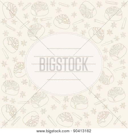 Cinnamon rolls and spices card