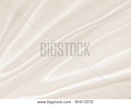 Smooth Elegant Golden Silk Or Satin Texture As Background. In Sepia Toned. Retro Style