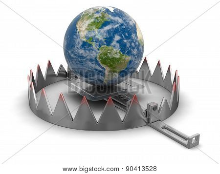 Trap and Globe (clipping path included)