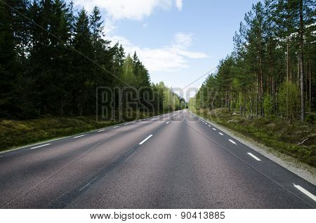 Low Angle Straight Road