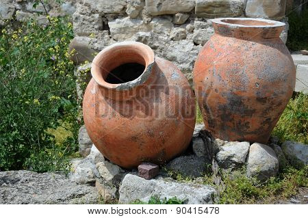 Ancient Amphorae In Nesebar