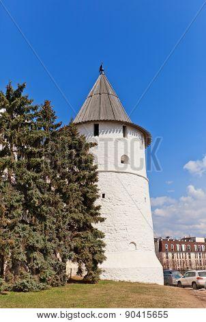 Southeast Round Tower (xvi C.) Of Kazan Kremlin, Russia