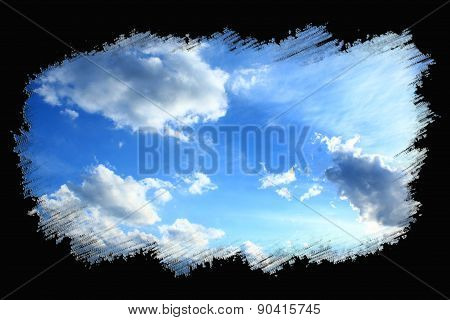 Beautiful Summer Sky In The Painted Frame