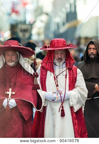 Medieval Bishop, A Procession In Asti