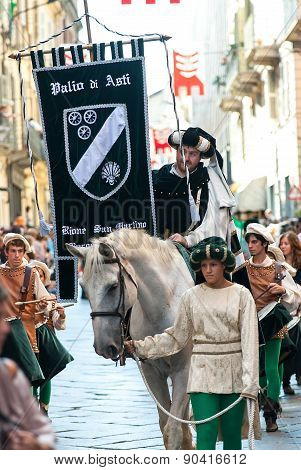 Parade Of Medieval Knight, Palio