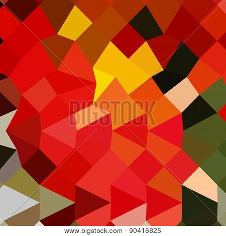 Lava Red Abstract Low Polygon Background
