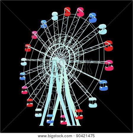 Colorful Carousel Vector