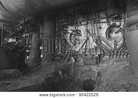 Steel Industrial Equipment In B&w