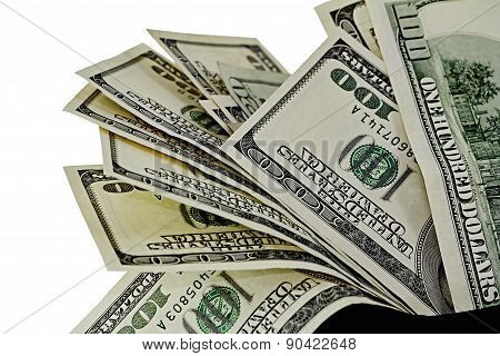 US Currency One hundred Dollar bills