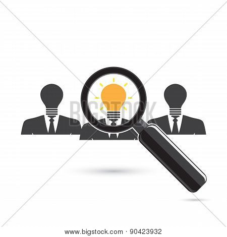 Search For An Employee. Looking For Positive Thinker. Looking For Talent. Search For Businessman.