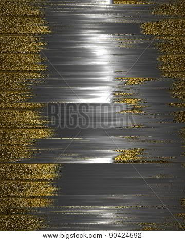 Abstract Grunge Gold Background With Silver Scuffed