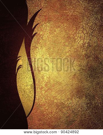 Red Grunge Background With Gold Scuffed With A Red Pattern