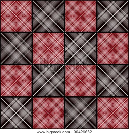 Patchwork seamless retro checkered pattern background