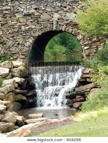 Waterfall Through Stone Acrh