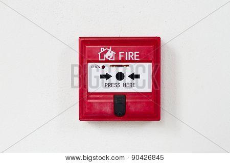 A fire alarm