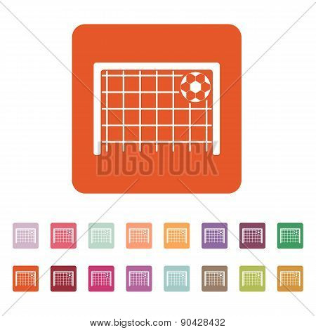 The Football Goal Icon. Soccer Symbol. Flat