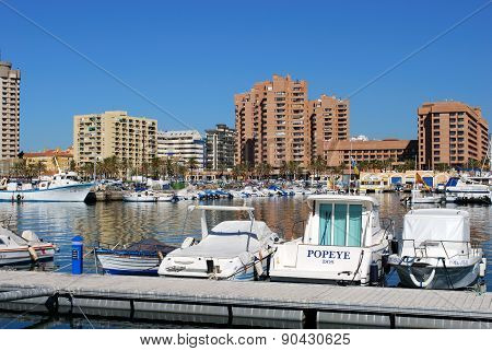 Fuengirola Harbour, Spain.